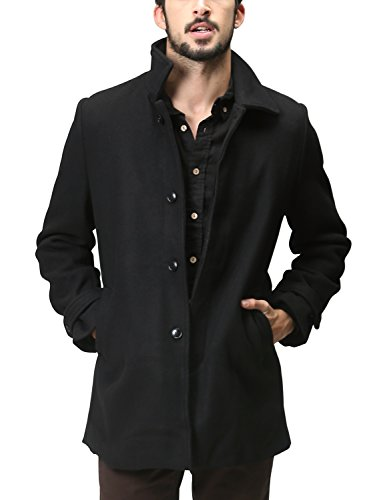 Match Men's Single Breasted Wool Blend Trench Coats(US L/CN 4XL (Fit 42
