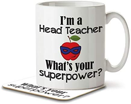 I'm a Head Teacher What's Your Superpower? - Mug and Coaster By Inky Penguin