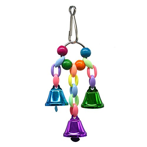 (Pet Online Pet Toy Beads Holding Parrot Bird pet Bell Toy, S,)