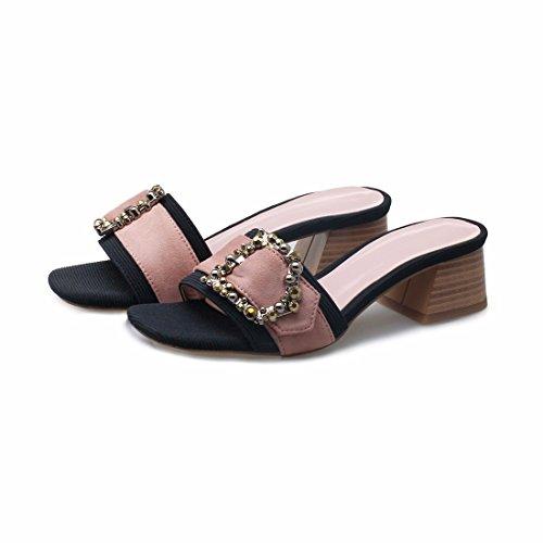 Damen Schuhe Sandalen Pantoffeln für Pink und Gelegenheits q76wqrap