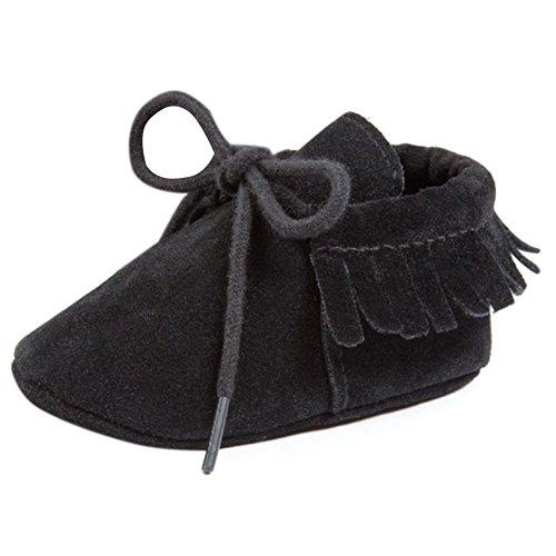 Etrack-Online Baby Sneakers - Zapatos primeros pasos para niño negro