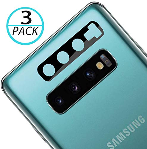 [3 Pack] QUESPLE Samsung Galaxy S10 / S10 Plus / S10+ Camera Lens Flexible Glass Protector [Upgraded], [Willow Glass], [2.5D Arc Edges], HD Anti-Scratch Bubble-Free