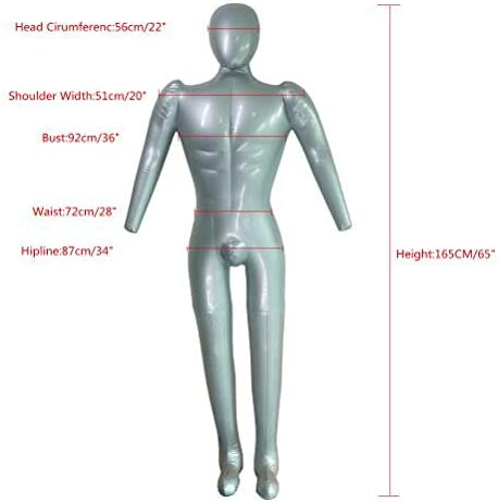 Inflatable,Mannequin for Clothes,Inflatable Torso,Men Display Stand,PVC Inflatable Mannequin,Full Body,1piece