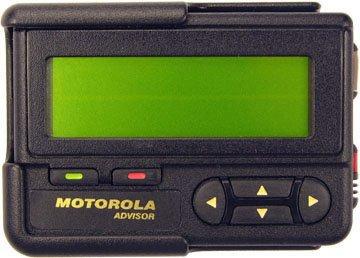 Motorola Advisor Alphanumeric Pager w/ Holster