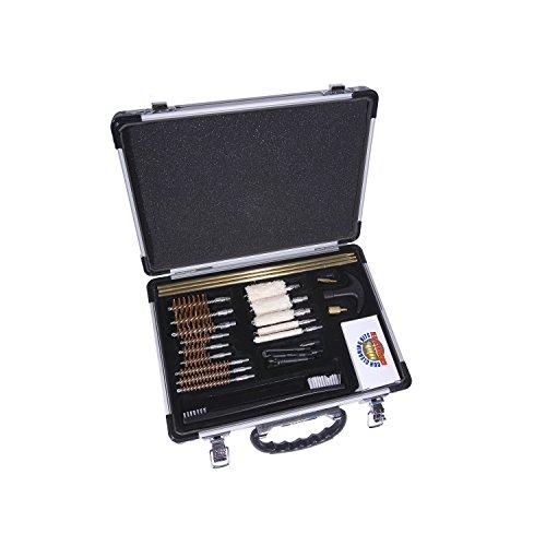 Gunmaster Universal Select 22 Caliber Aluminum Case Gun Cleaning Kit (30-Piece), Large