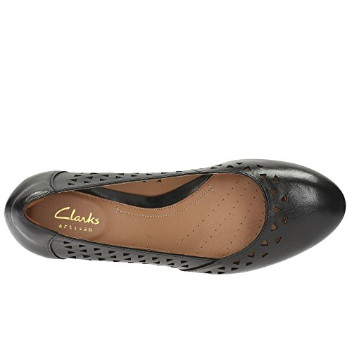 Clarks Denny Dallas Womens Court Shoes Black pcQHF