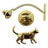 Walking Cat Tie Tack ~ 24K Gold ~ Tie Tack or Pin ~ Sarah's Treats & Treasures