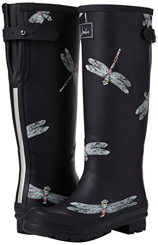 Joules Azul Botas Para Welly Print De Mujer Agua navy Dragonfly 4x04rqTw