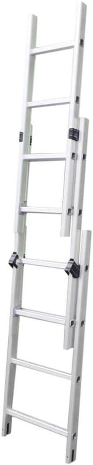 Wenhu Escalera telescópica de Aluminio de 116 cm de Longitud 3X4 con pasamanos para el hogar sin Escalera Deslizante de Repuesto de Plata: Amazon.es: Deportes y aire libre
