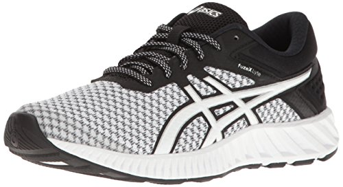 ASICS Women's fuzeX Lyte 2 Running Shoe, White/Black/Silver, 8 M US