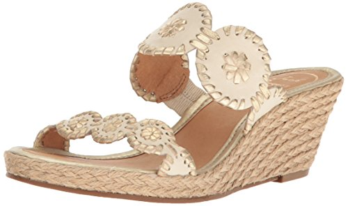 Jack Rogers Women's Shelby Wedge Sandal Bone/Gold 8.5 for sale  Delivered anywhere in USA