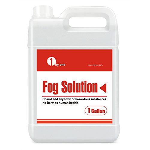 1byone 1 Gallon Fog Juice Fluid for Water Based Fog Machines