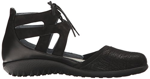 Naot Damen Schuhe Mary Jane Spangenschuhe Kata Echt-Leder Schwarz Combi 15434