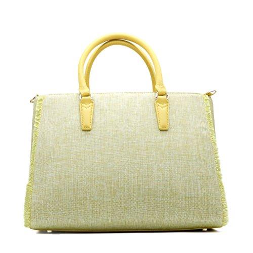 Borsa Ischia Trussardi giallo textil tote bag