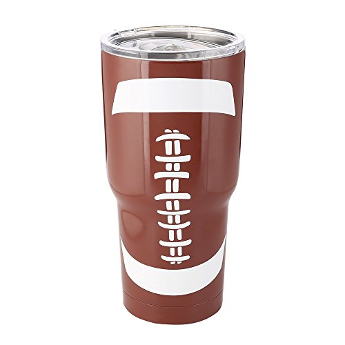 X.Sem Sports 30oz Stainless Steel Vacuum Mug Double Wall Baseball Travel Tumbler Insulated Cup (American Football)