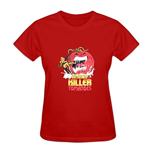 Attack of the Killer Tomatoes Women's Short Sleeve Shirt XXXL Red