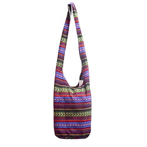 Caszel Womens Ethnic Tribal Style Cotton Hippie Hobo Sling Crossbody Bag Messenger Purse (#4)