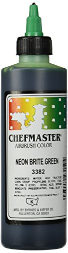 Chefmaster Airbrush Spray Food Color, 9-Ounce, Neon Brite Green ()
