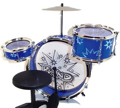 Liberty Imports Big Band Drum Set with Chair - Music Toy Instrument for Kids (8 Pc)