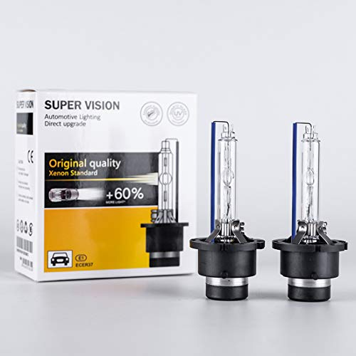 D2S HID Bulbs 35W 8000K Blue White AC Car Auto Xenon Headlight Replace Replacement OEM Factory Headlamp High Low Beam Light Bulb