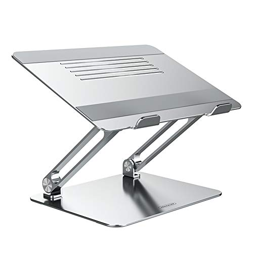 "Nillkin Laptop Stand, Adjustable Laptop Riser Ergonomic Aluminum Computer Holder with Cooling Function Laptop Stand Metal Clamp Compatible with MacBook Pro/Air, Dell Lenovo All Laptops 11-17.3"" Silver"