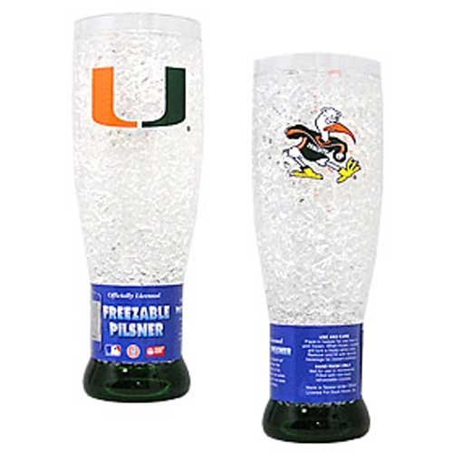 NCAA Miami Hurricanes 16oz Crystal Freezer Pilsner