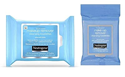 Neutrogena Makeup Remover Cleansing Towelettes, Daily Face Wipes to Remove Dirt, Oil, Makeup & Waterproof Mascara, 25 ct