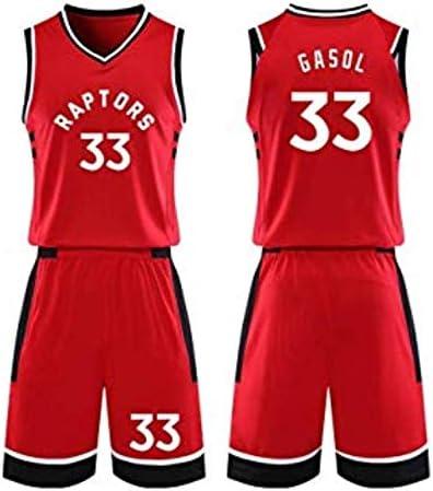 CCKWX Toronto Raptors # 33 Trajes De Uniforme De Baloncesto Marc ...