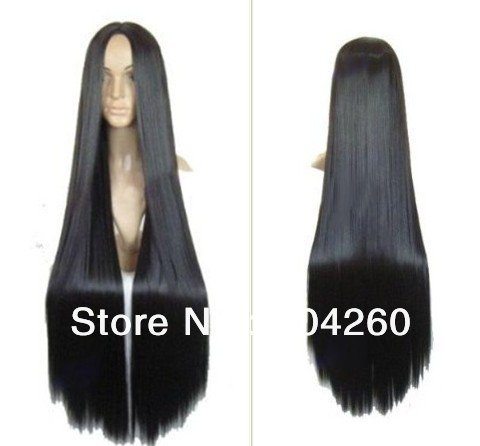 [Smile Cartoon Movie Princess Pocahontas Long Black Straight Cosplay Wigs] (Pocahontas Wig)