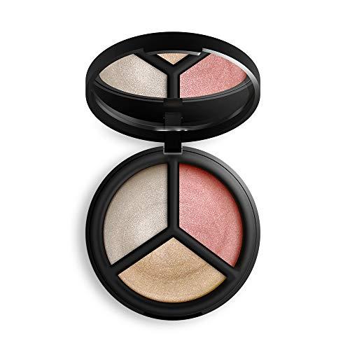 (Inika Certified Organic Cream Illuminisor Trio, All Natural Make-Up Highlighter, Coconut Oil, Argan Oil, Vitamin E, Vegan (9g))