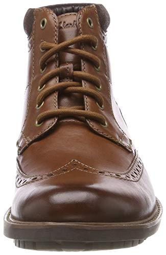 Homme Leather Bottes Clarks tan Chelsea Curington Rise Marron 1q78aI7