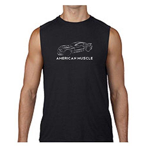 American Muscle Street Racing Ford Mustang Shelby Cobra GT V8 Sleeveless T shirt - Xlarge (Cobra Sleeveless T-shirt)