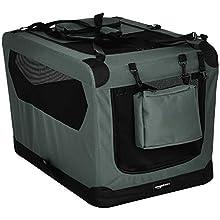 "AmazonBasics Premium Folding Portable Soft Pet Crate - 30"", GREY"