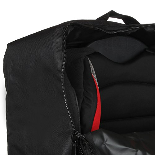 Full Size Car Seat Travel Bag - Black Carseat Carrier and Car Seat Bag for Airplane by Hope and Kisses (Image #4)