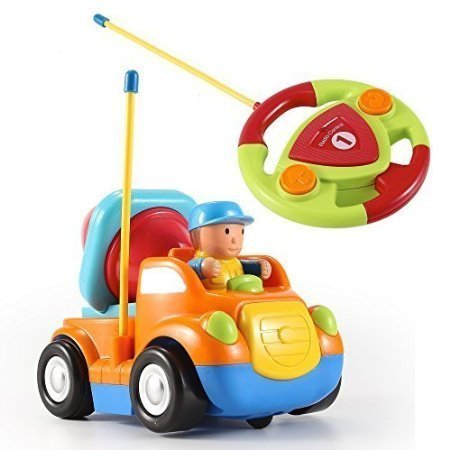 Cartoon R/C Construction Car Radio Control Toy for Toddlers (Orange) by DeluxeRC.com