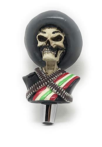 Zapata Skull beer tap handle