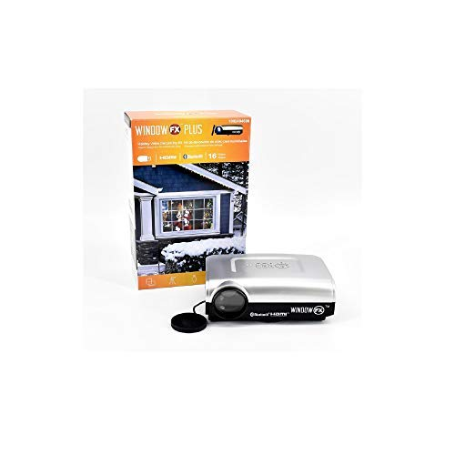 Window FX Plus Holiday Video Decorating Projector Kit with 16 Videos
