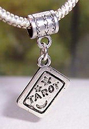 Craft Spot Global Tarot Card Deck Reading Games Dangle Bead fits Silver European Charm Bracelets CSG # (Decorative Deck Fringe)