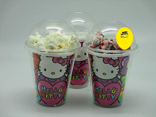 (Set of 8 -Hello Kitty Party Cups, Popcorn Cups, Goody Bags, Favor)