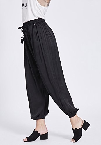 Negro Mujer Khujo Pantalón Básico Para wqx8pIz1H