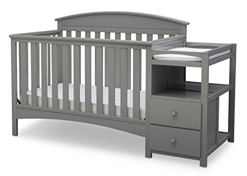 Delta Children Abby Convertible Crib U0027Nu0027 Changer, Grey