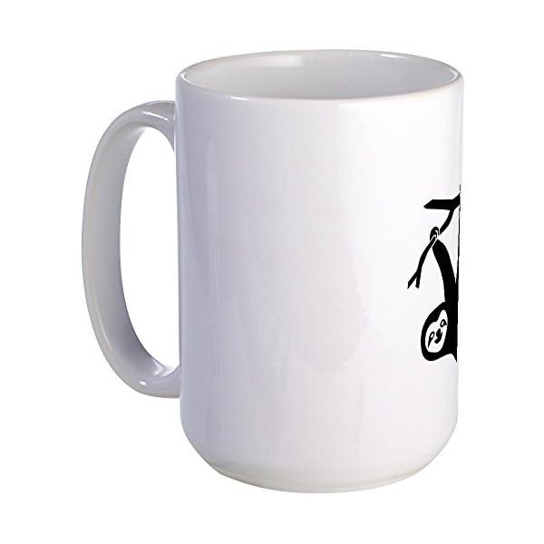 Cafepress Sloth Lazy Cute Animal Freeclimber Climbing Large Coffee Mug, Large 15 Oz. White Coffee Cup -