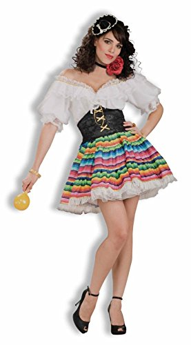 Sexy Senorita Women's Costume Fiesta Mexican Spanish Cinco De Mayo Hot Tamale (Mexican Costumes Woman)
