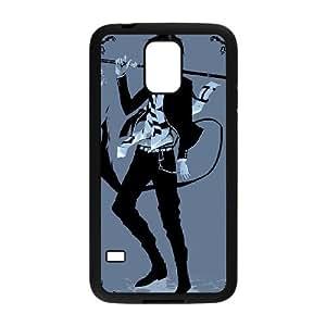Exorcista azul 003 funda Samsung Galaxy S5 caso del teléfono celular funda H6G9NVJMKT negro