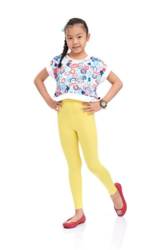 Nom Girls Legging Long Leg Variety of Colors Medium Size Light Yellow -