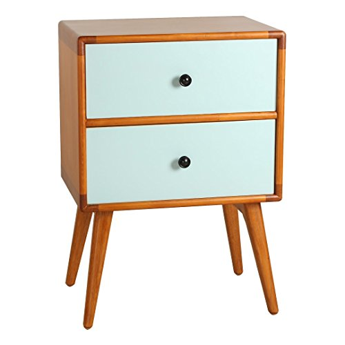 Porthos Home Tristan Mid-Century Modern Side Table, Aqua