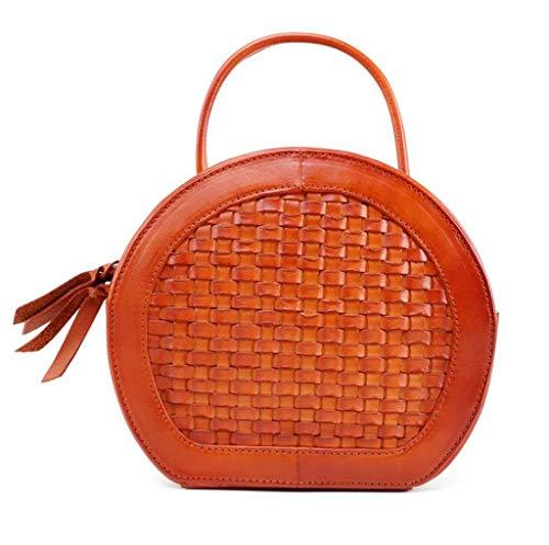 A colore Da One 8 Giallo 7 In 08inch 7 3 Pu Borse 20 Per Dimensioni Size Donna Pelle 15 18cm Brown 87 Tracolla CqyKdRS