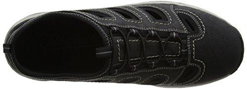 Rieker 41 Schwarz Schwarz Bleu EU Sneakers Schwarz 15285 Homme Noir 01 Basses RwqXrRFaxp