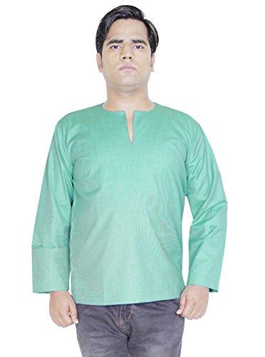 mens-fashion-cotton-short-kurta-yoga-dress-long-sleeve-t-shirt-size-xl