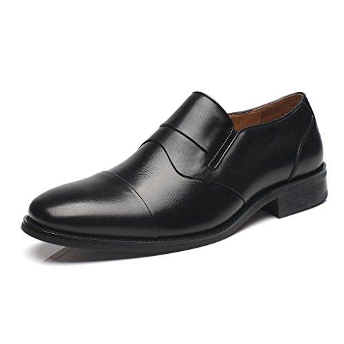 La Milano Mens Geniune Leather Cap Toe Slip on Loafer Milano Cap